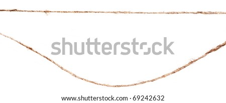 close up of rope part isolated on white background - stock photo