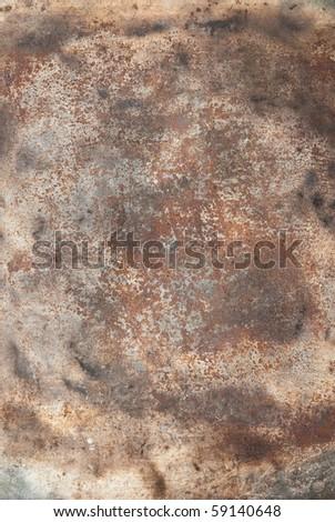 close up of rusty metallic surface - stock photo