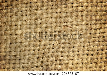close up of sack  background - stock photo