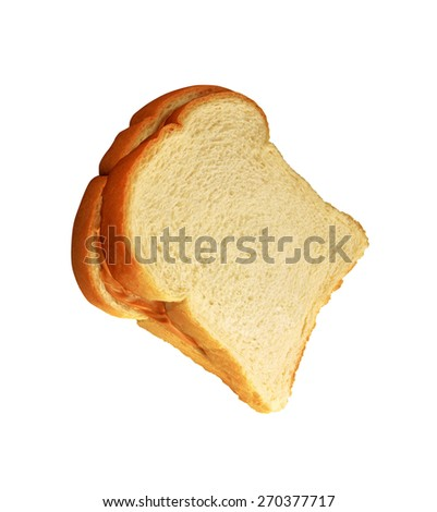 Close up of sandwich on white - stock photo