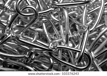 Close-up of shiny chain links - stock photo