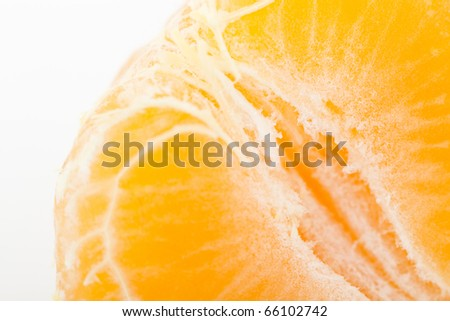 Close-up of sliced mandarin. - stock photo