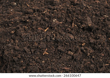 close-up of soil - stock photo