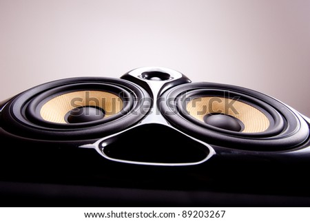 Close up of speakers - stock photo