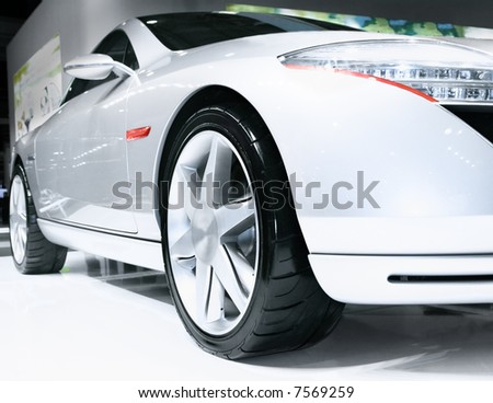 Close-up of sport car - stock photo