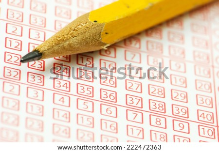 Close up of sports betting ticket. - stock photo