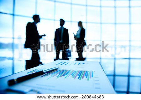 Close-up of spreadsheet with statistics - stock photo