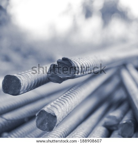 close up of steel bars - stock photo