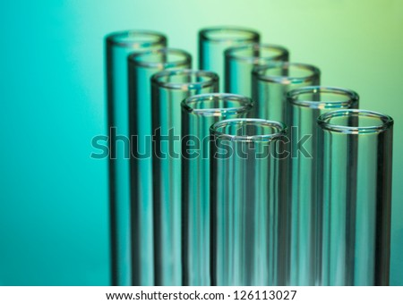 Close-up of test lab glass tubes equipment - stock photo