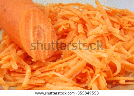 close up of the carrot  - stock photo