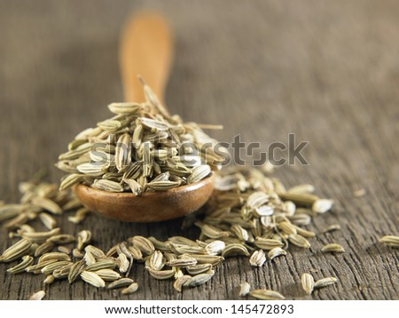 close up of the cumin indian spices - stock photo