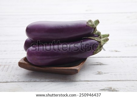 Close up of the egg plants - stock photo