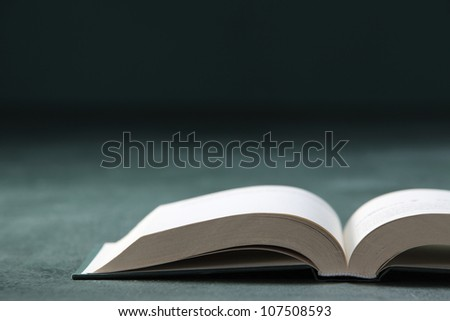 Close up of the Open Book - stock photo