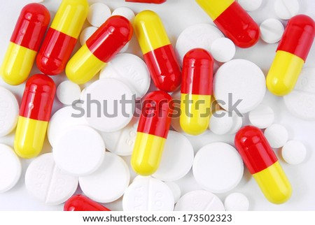 close up of the pills - stock photo