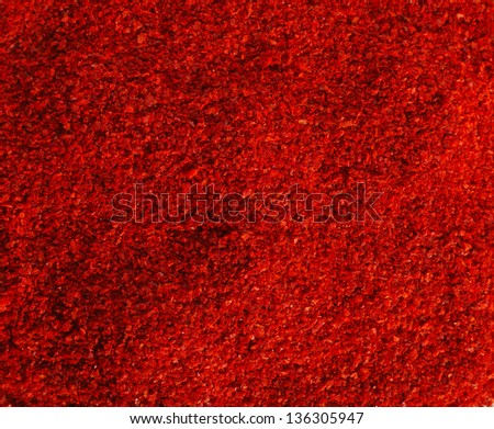 close up of the red chilli powder - stock photo