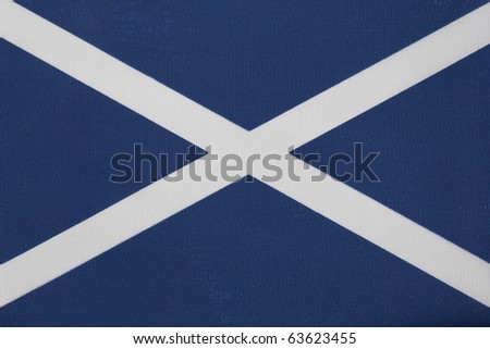Close up of The Scottish Flag of St Andrew - stock photo