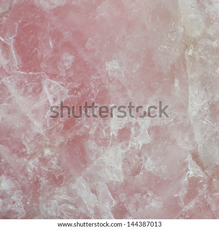 Close up of the surface of rose quartz - stock photo