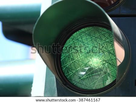 close up of traffic light  - stock photo