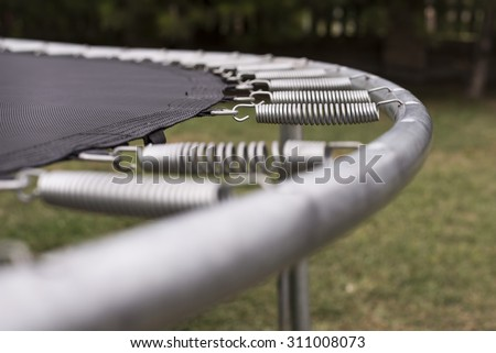 Close up of trampoline - stock photo