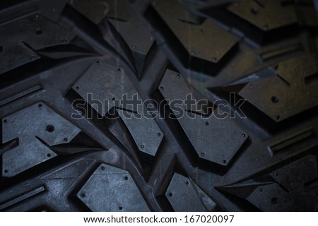 Close up of truck tire texture, background - stock photo