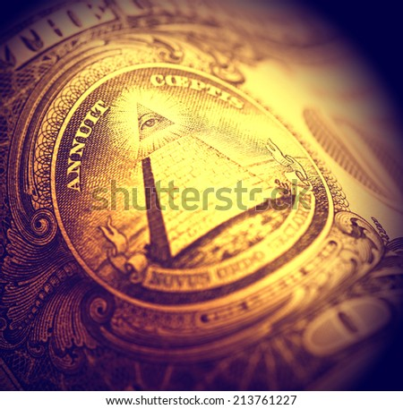 Close up of US dollar - stock photo