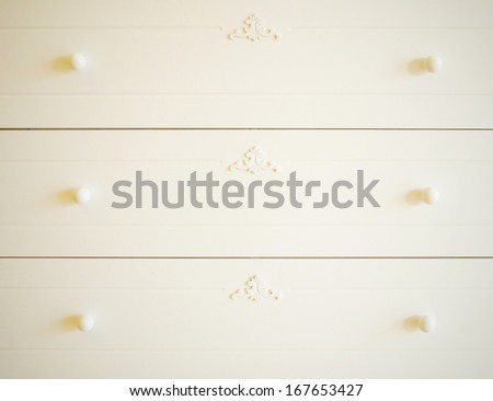 Close up of vintage wooden drawer - stock photo