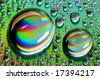 Close-up of water-drops on glass background - stock photo