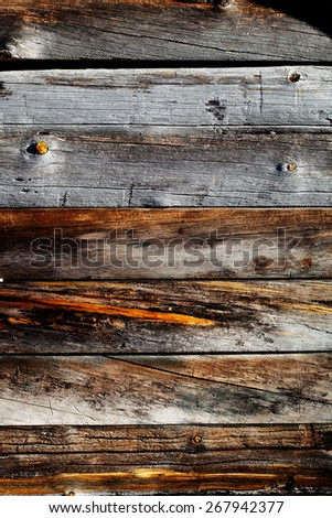 Close up of weathered wood texture - stock photo