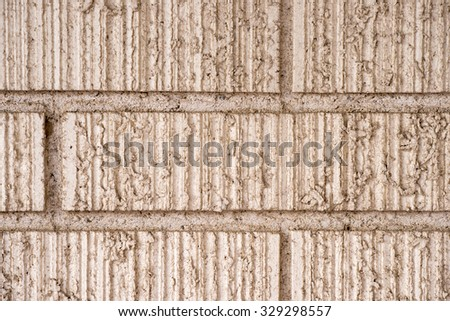 Close up of white brick and mortar - stock photo