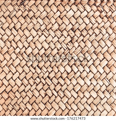 Close up of wicker as a detailed background - stock photo