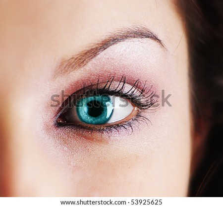 Close-up of woman eye - stock photo