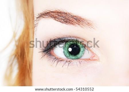 Close-up of woman eye - stock photo
