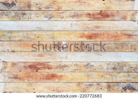 Close up of wooden panels - stock photo