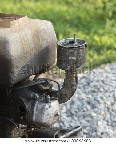 close up old rusty motor engine , outdoor - stock photo