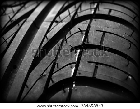 Close up on a tire  - stock photo