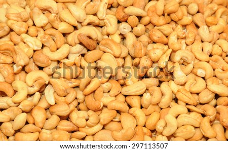 close up on cashew nuts  - stock photo