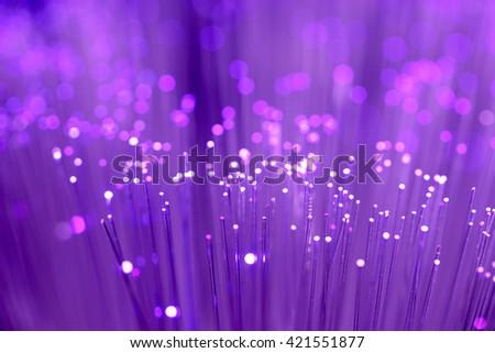 Close up on fiber optics - Shallow depth of field - stock photo