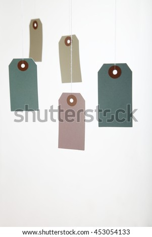 close up on the hanging price tag - stock photo