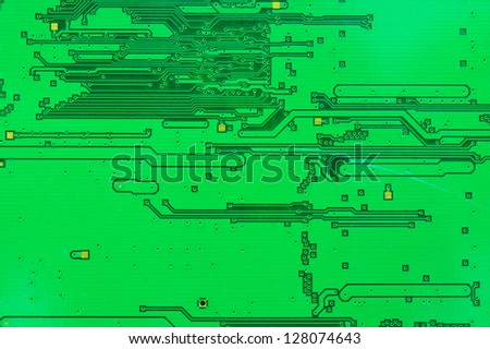 Close up on the old electronic circuit boards. - stock photo