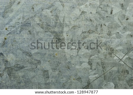 Close up on zinc plate texture background - stock photo