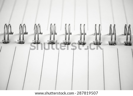 close-up open book ( black and white style ) - stock photo