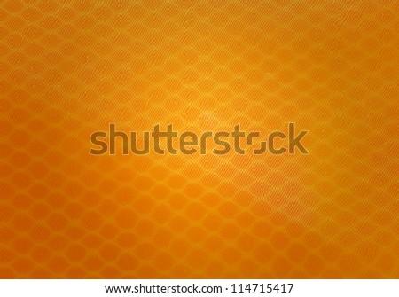 Close up orange pencil case - stock photo