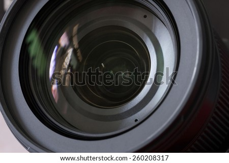 Close up part of camera lens.. - stock photo