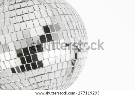 close up partial image of disco ball on white background - stock photo