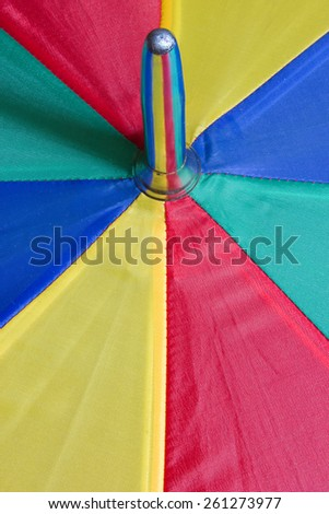 Close up photo of an umbrella with water drops on it - stock photo