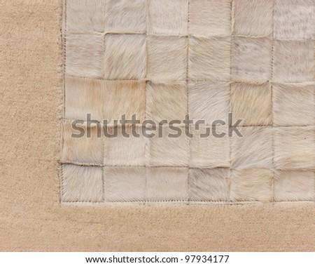 Close-up photo of beautiful, mild, patterned carpet - stock photo
