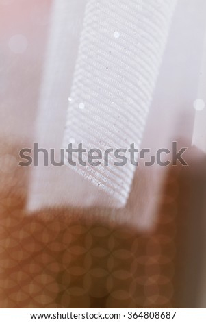 Close up photo of beautiful wedding material - stock photo