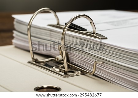 Close-up Photo Of File Folder With Documents - stock photo