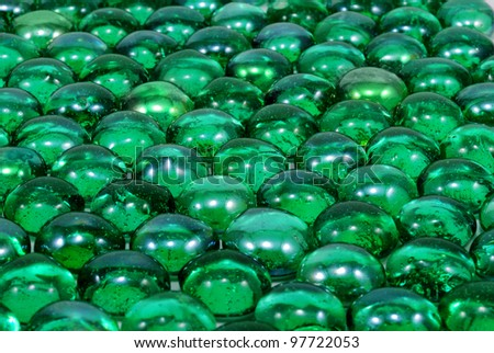 close-up photo of green decorative glasses - stock photo