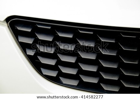 Close-up photo of grille car front. - stock photo